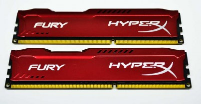 Kingston 8 GB (2x4GB) DDR3 1600 MHz HyperX FURY Red
